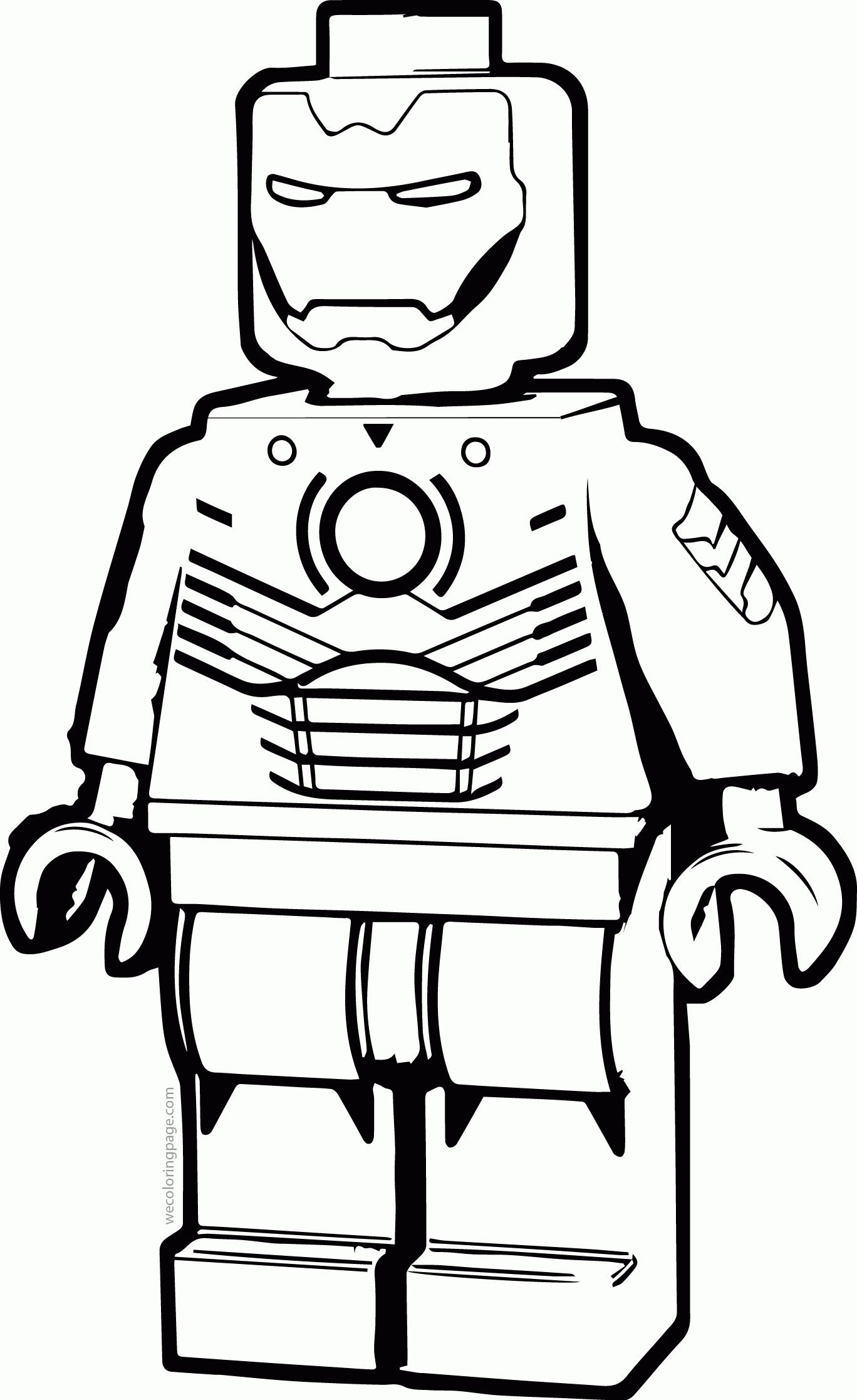 Iron Man Lego Coloring Page