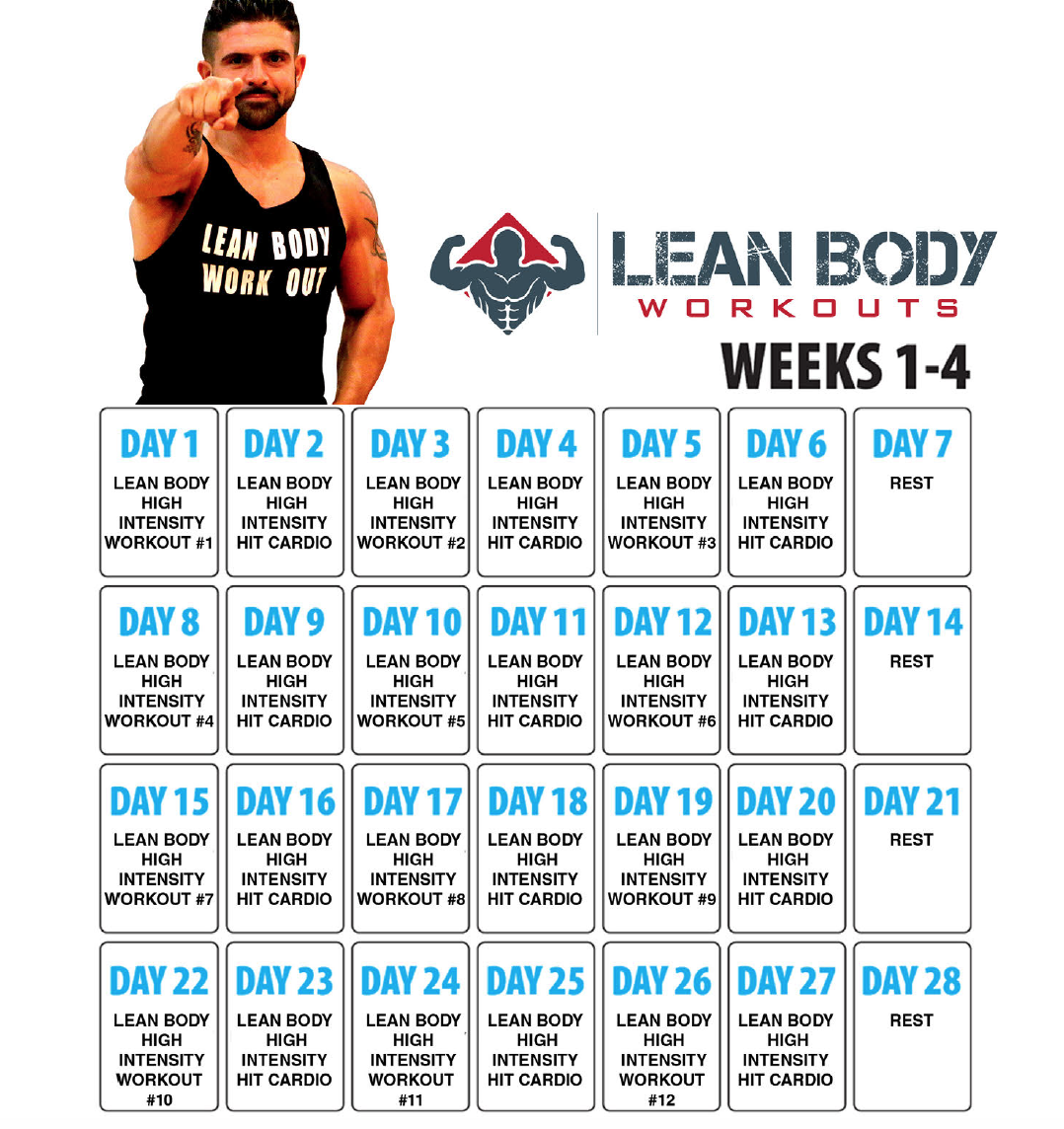 Gym Workout Schedule For Lean Body | EOUA Blog