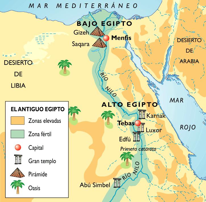 Mapa De Egipto Sociales De Primero Egipto Egipto Actual Civilización Egipcia