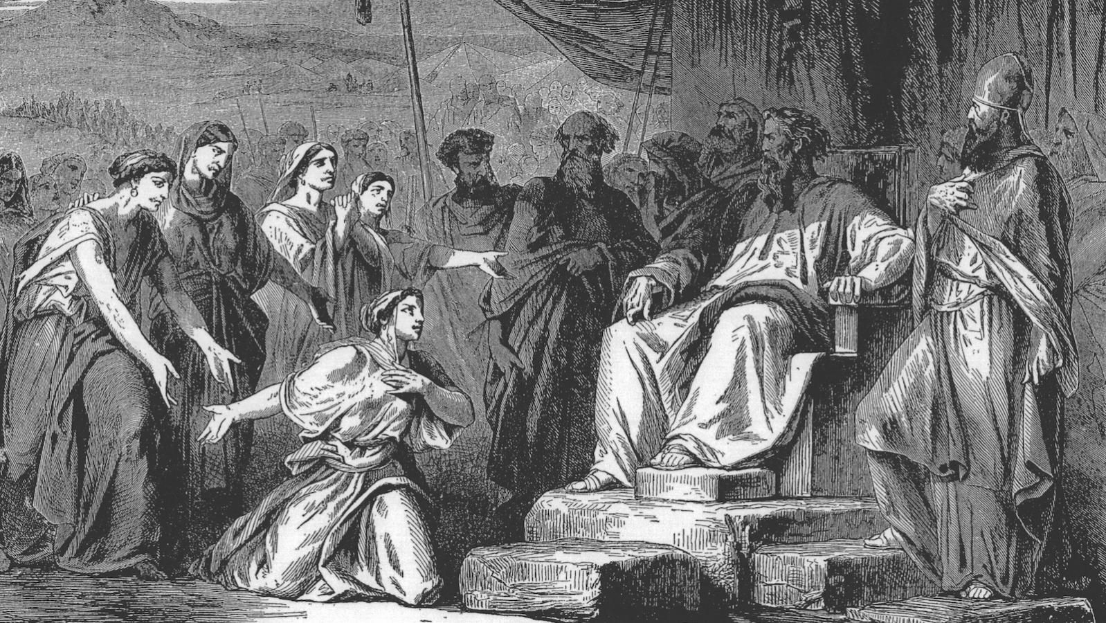 Image result for zelophehad's daughters by Gustave Dore