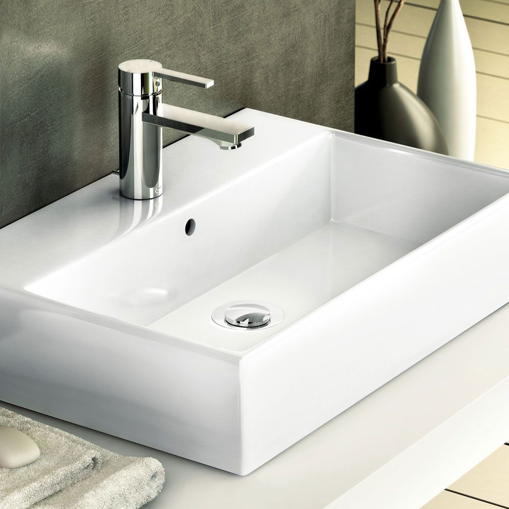Ideal standard lavabo strada lavabo da appoggio su piano for Lavabo da appoggio misure