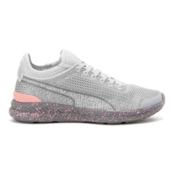 Puma women, Woven shoes, Grey flats shoes