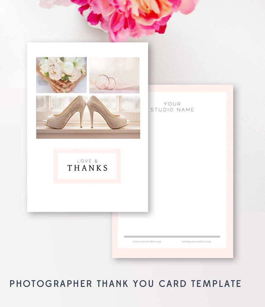 Photographer Thank You Card Template  Photo Thank You Card  By