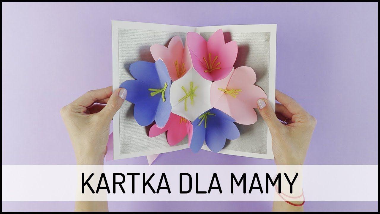 Recznie Robiona Kartka Na Dzien Matki Diy Domodi Tv Diy