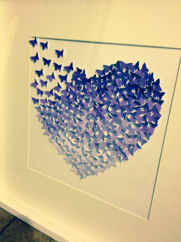 Heart 3D Butterfly Wall Art - Purple £75   Via... www.sophiasnest.co ...