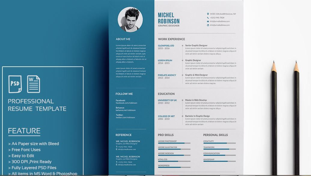Modern cv and resume templates for microsoft word docx download ...