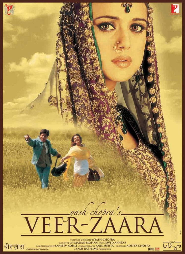 6 Veer Zaara 2004 Romantic Movies Full Movies Bollywood Posters