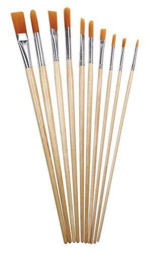 Heritage Arts Abp104 10piece Long Handle Acrylic Brush Value Set