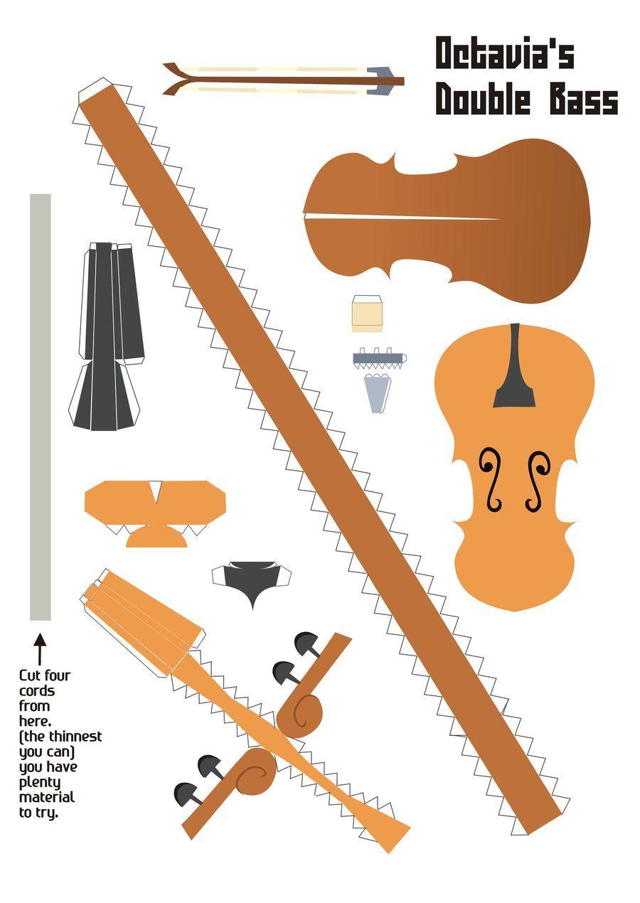 Manualidades construye tu propio violoncello anime y for Construye tu casa en 3d