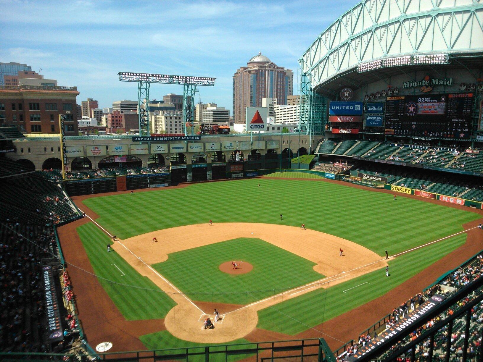 Houston S Official Hop On Hop Off Tour Baseball Stadiums Parks Minute Maid Park Houston Baseball Park