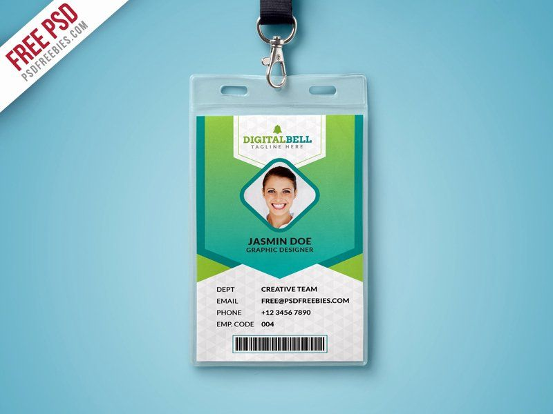 Id Card Template Photoshop Fresh Multipurpose Identity Card Template Psd Id Card Template Card Templates Free Employee Id Card
