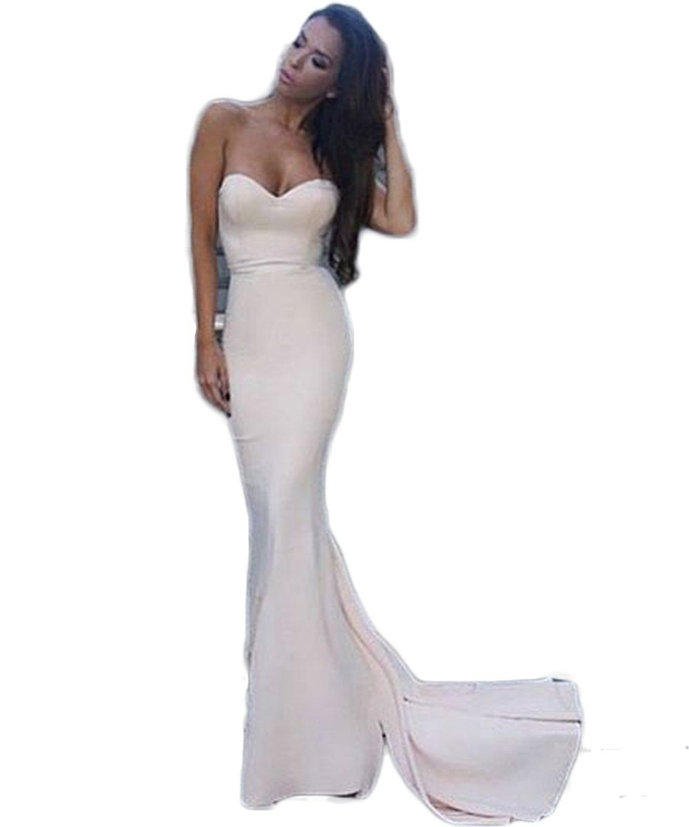Semi formal dresses for wedding reception  PinkMemory Womenus Sweetheart Mermaid Prom Dress Formal Prom Party