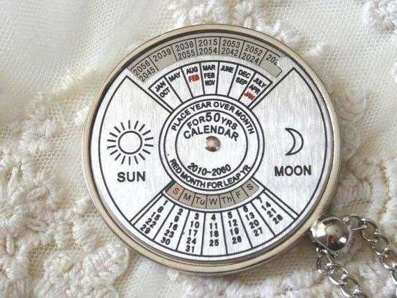 Calendario 2060.1 Perpetual Calendar Necklace Dial Up To 2060 Real Spin By