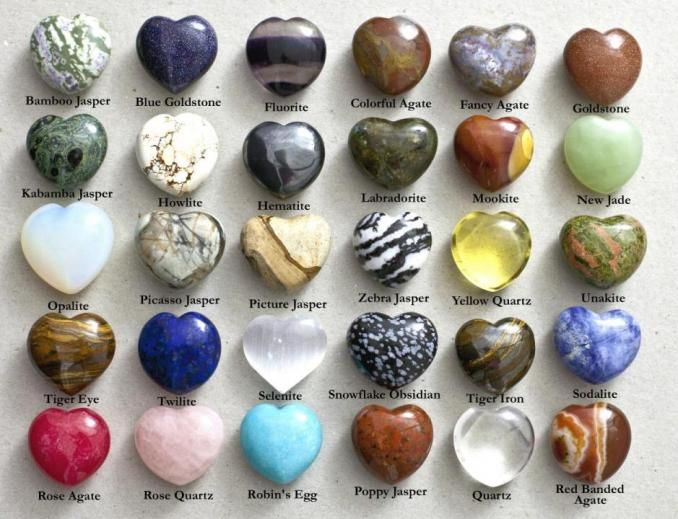 Natural Stone Puffed Hearts Minerals And Gemstones Gemstones Chart Stone Heart