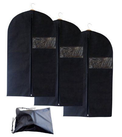 52879aa11d4c Set of 3 Breathable Garment Bags with Shoe Bag - Garment Bag Covers ...