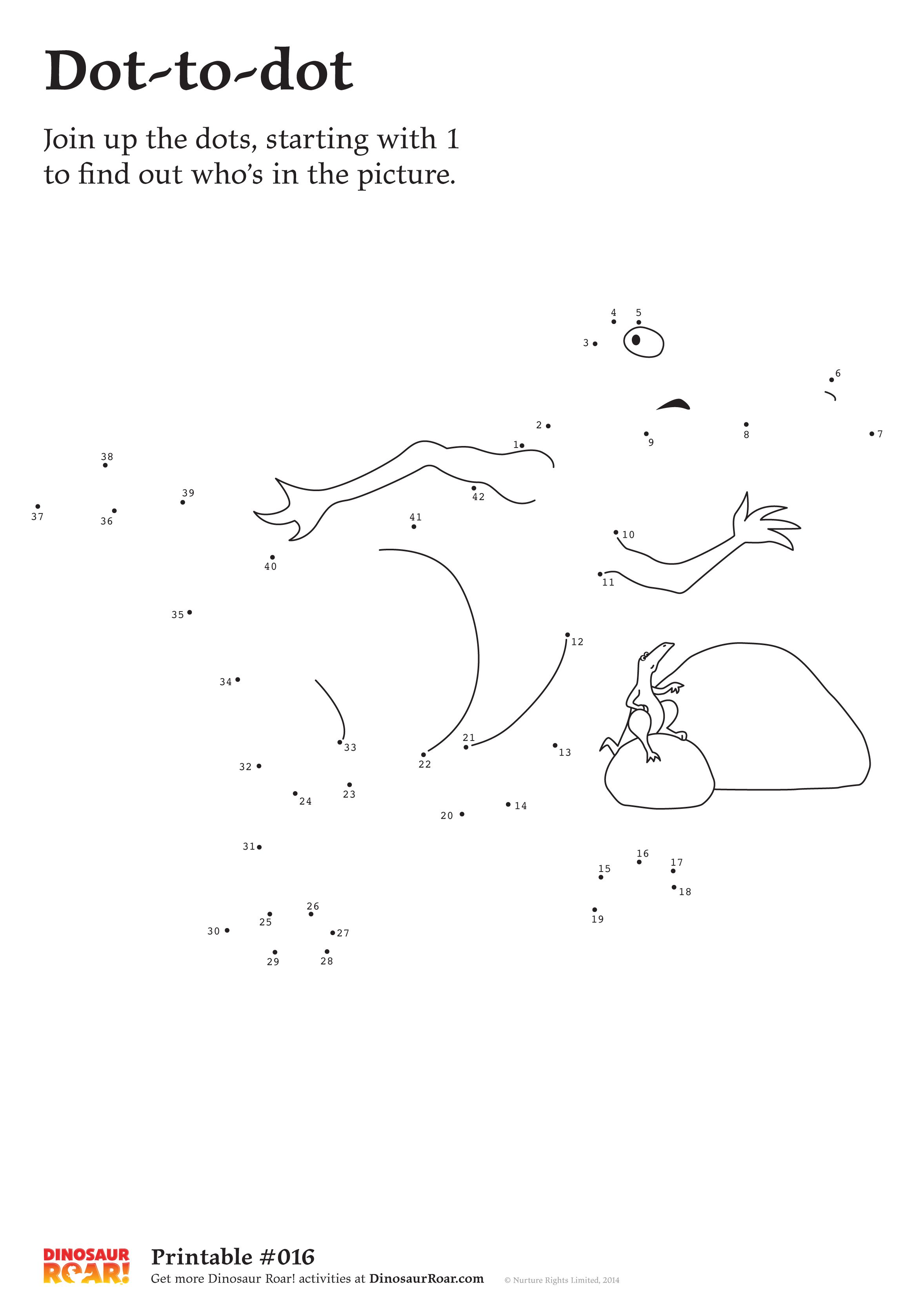 Dinosaur Dot To Dot Printable Activity Sheet Join Up The