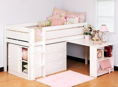 Girl kids beds with table & storage | Pinterest | Table storage ...