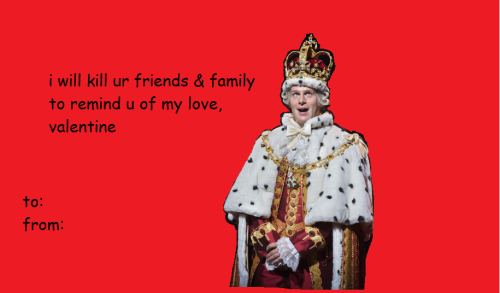 hamilton king george Google Search – Musical Valentines Cards