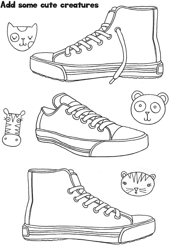 Welcome to Dover Publications Sneaker Designs Coloring
