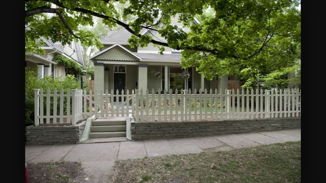White Picket Fence Front Yard Entrance