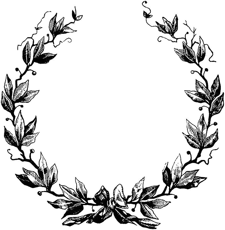 50+ Wreath clipart black and white free ideas