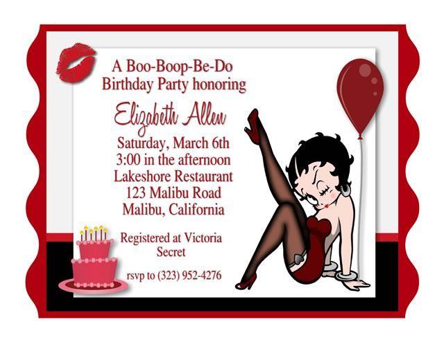 Betty Boop Birthday Party Invitation Invitaciones De