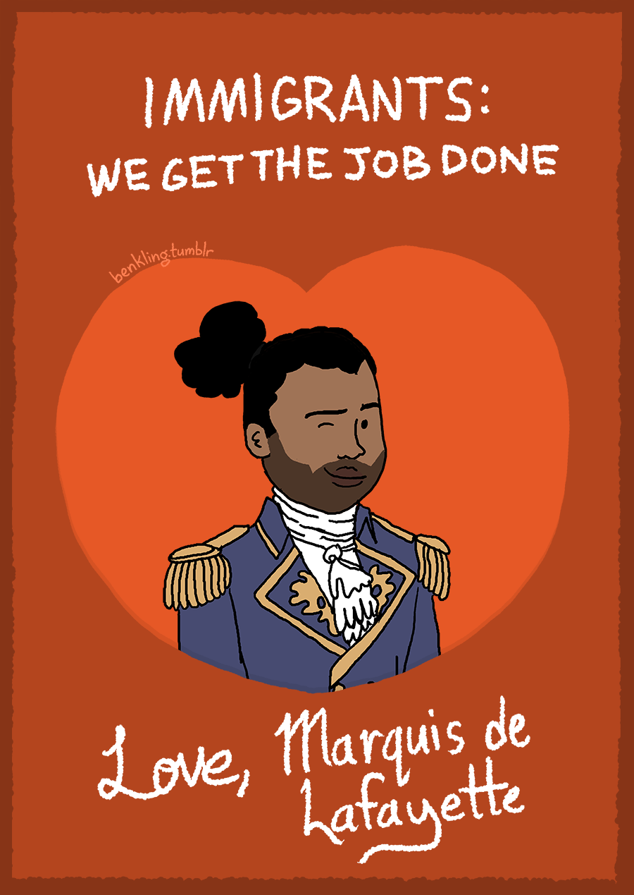 """A Guy Made Perfect Valentine's Day Cards For """"Hamilton"""" Fans"""