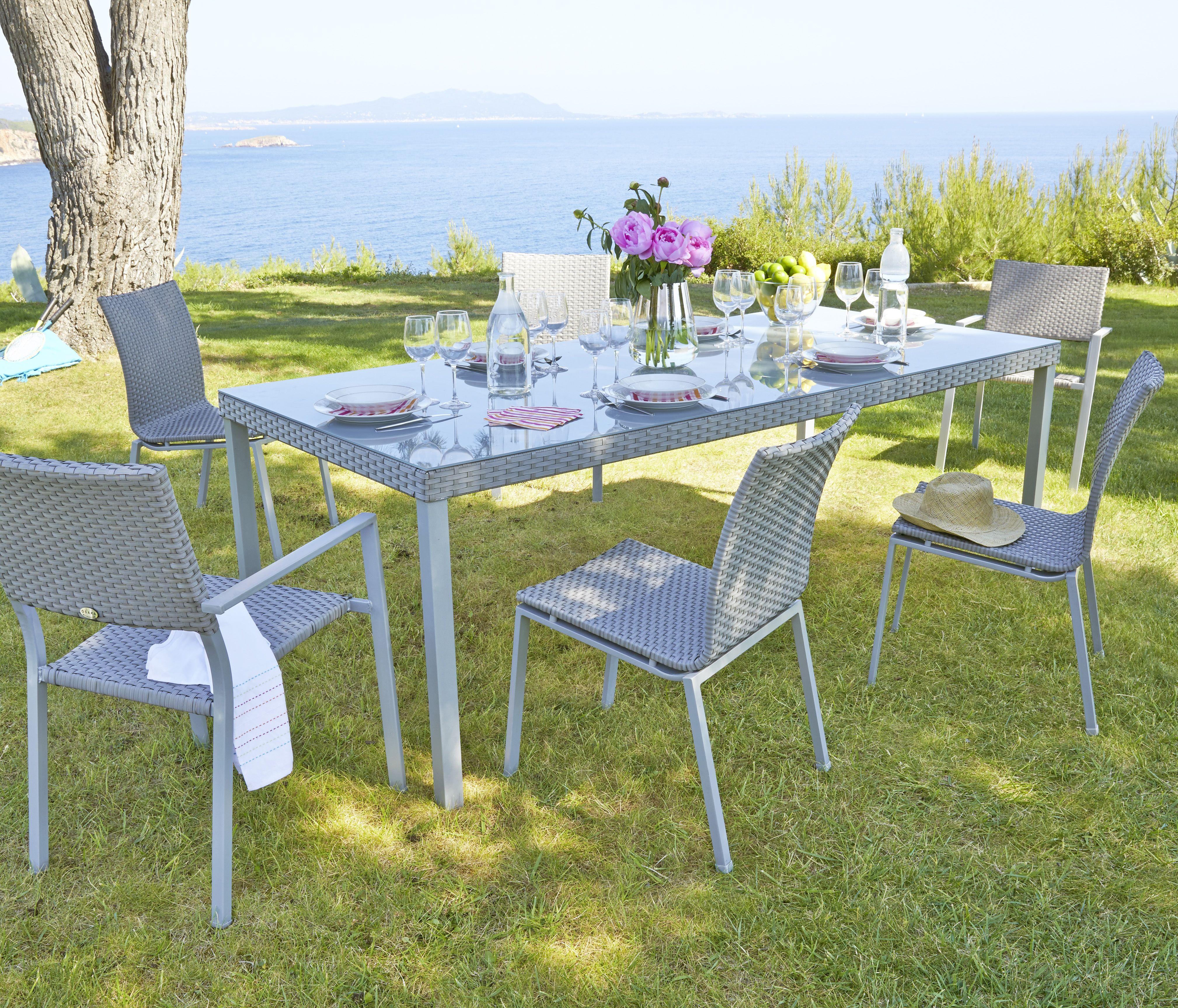 1 table Honfleur 6 fauteuils Honfleur Collection 2015