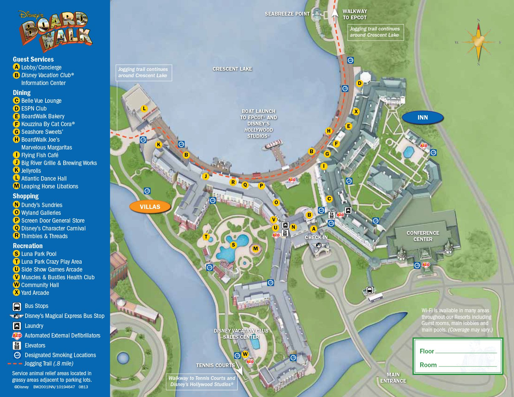 Boardwalk Resort Map Florida Disney World
