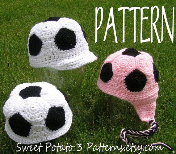 d5ae25c03ad PATTERN Soccer Beanie - Crochet