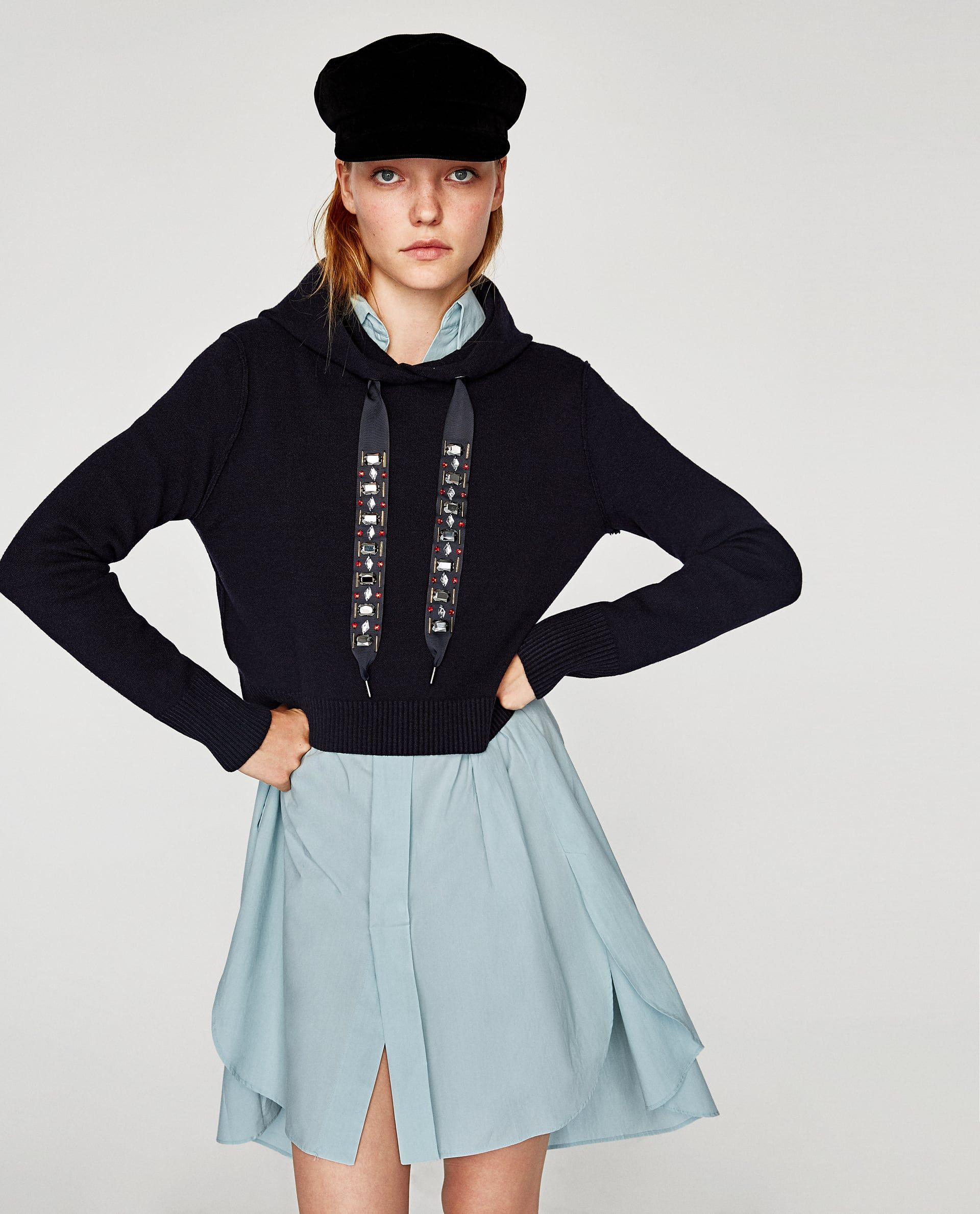 c0b289c889b BEJEWELLED DRAWSTRING SWEATSHIRT  Zara  jeweled  sweatshirt  fallfashion   cybermonday