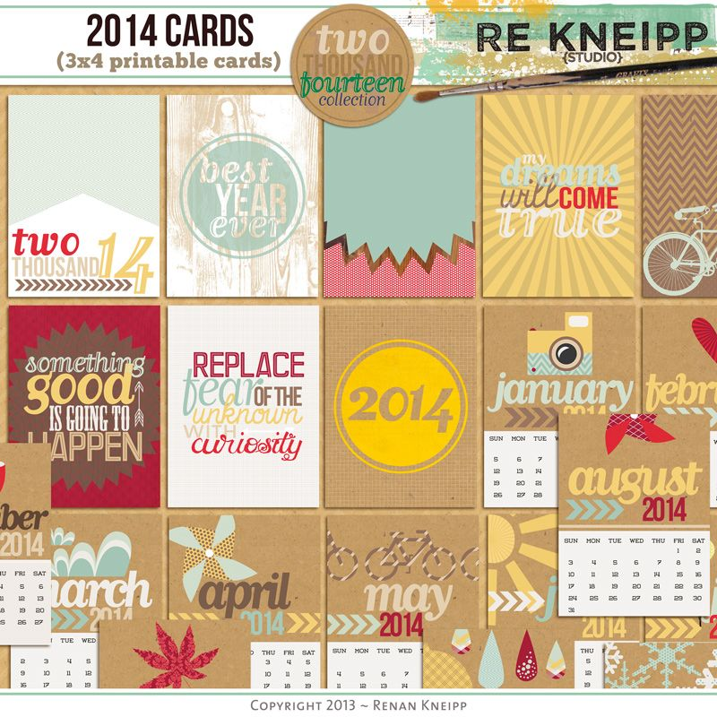 2014 Journal Cards by Re Kneipp at Oscraps