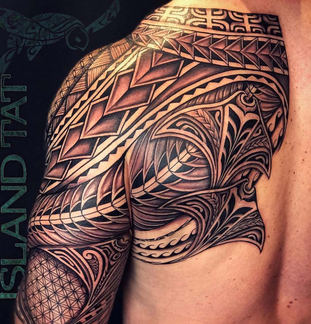 Island Tat Evolve Custom Tattoos Tattoo Finder Custom Tattoo Design Half Sleeve Tattoos Designs Dragon Sleeve Tattoos Polynesian Tattoo Sleeve