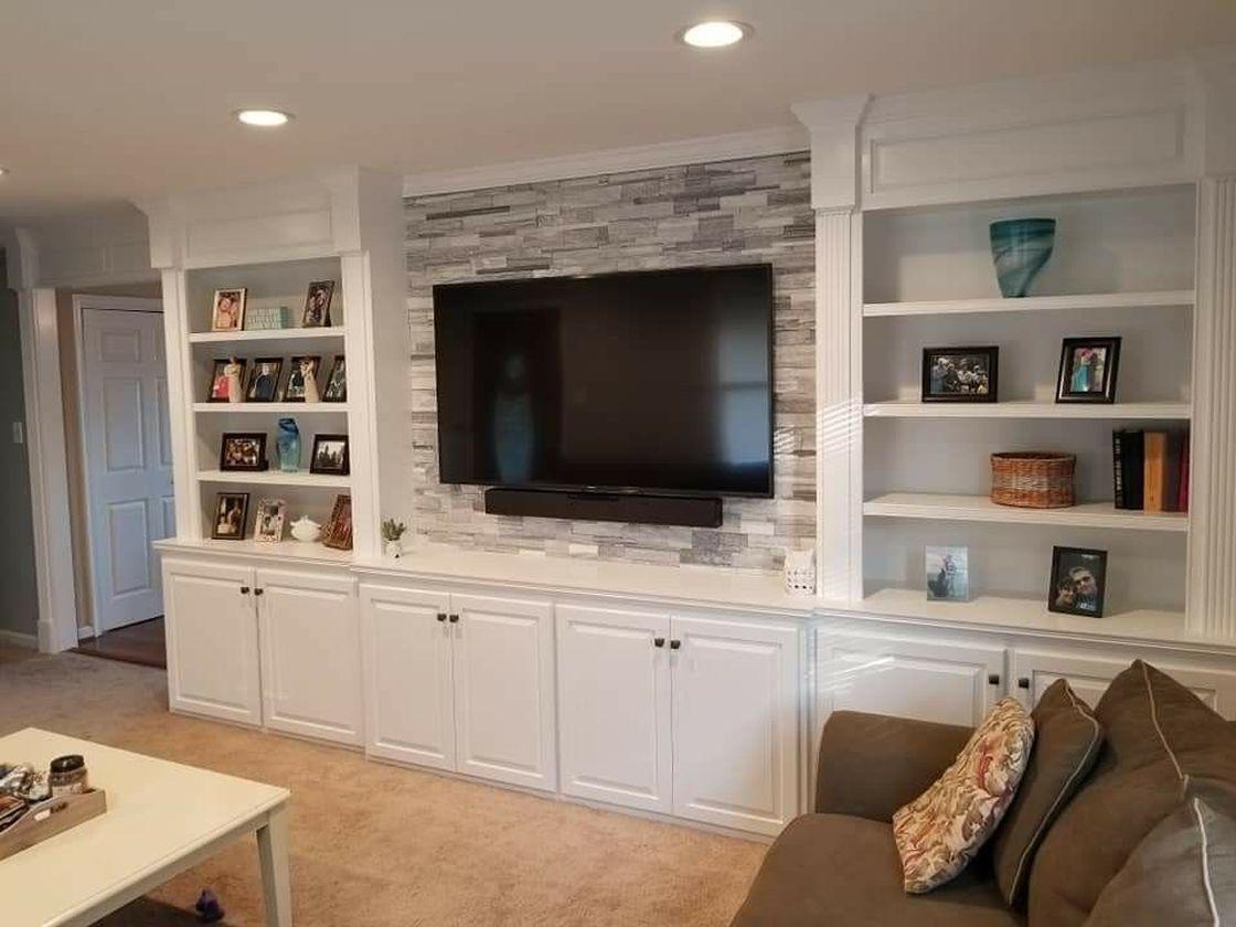 53 Adorable Tv Wall Decor Ideas Roundecor Tv Wall Decor Wall Unit Decor Tv Wall