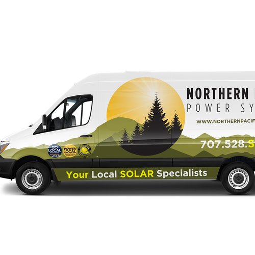 Mercedes Benz M2ca7x Sprinter Van Wrap For Solar Company Car