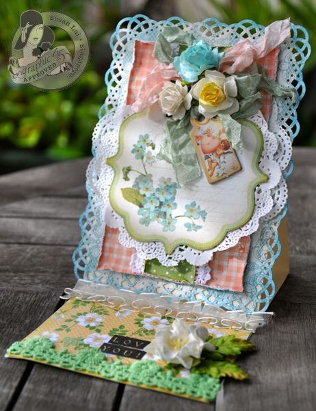 This Secret Garden card is absolutely beautiful by @Susan Caron Caron Caron Lui! #graphic45 #cards