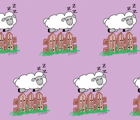 Sleep of Sheep fabric by daeshii on Spoonflower - custom fabric
