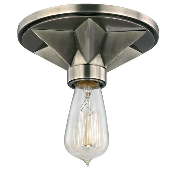 industrial lighting bare bulb light fixtures. The Maverick Exposed Bulb Flush Mount Light, Aged Silver · Star CeilingCeiling LightsLight FixtureKitchen Industrial Lighting Bare Light Fixtures N