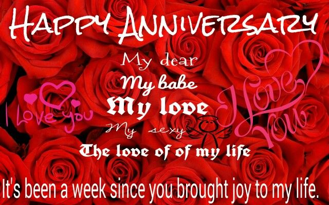 1 Week Anniversary Love Messages In 2019 Happy Birthday Wishes