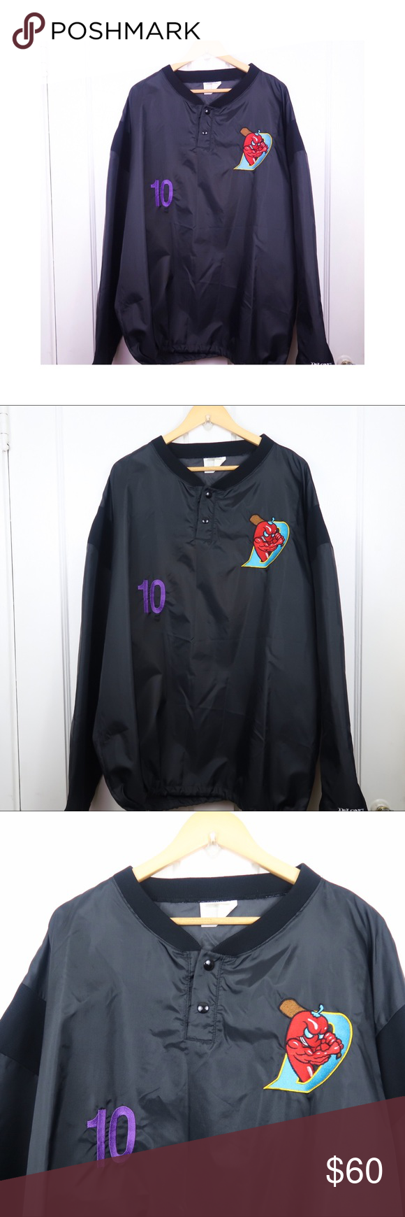 Black Red Hot Pepper Sports Fashion Jacket Size XL Black