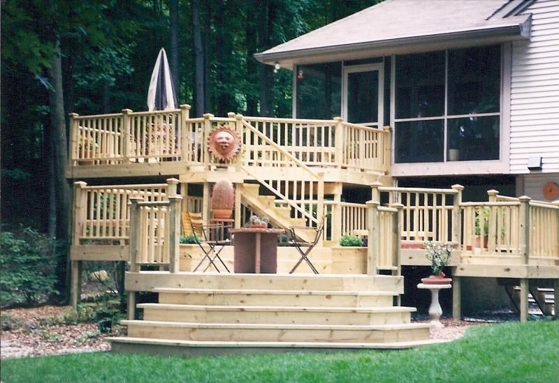 Multi Level Deck House Dreams Pinterest Decking