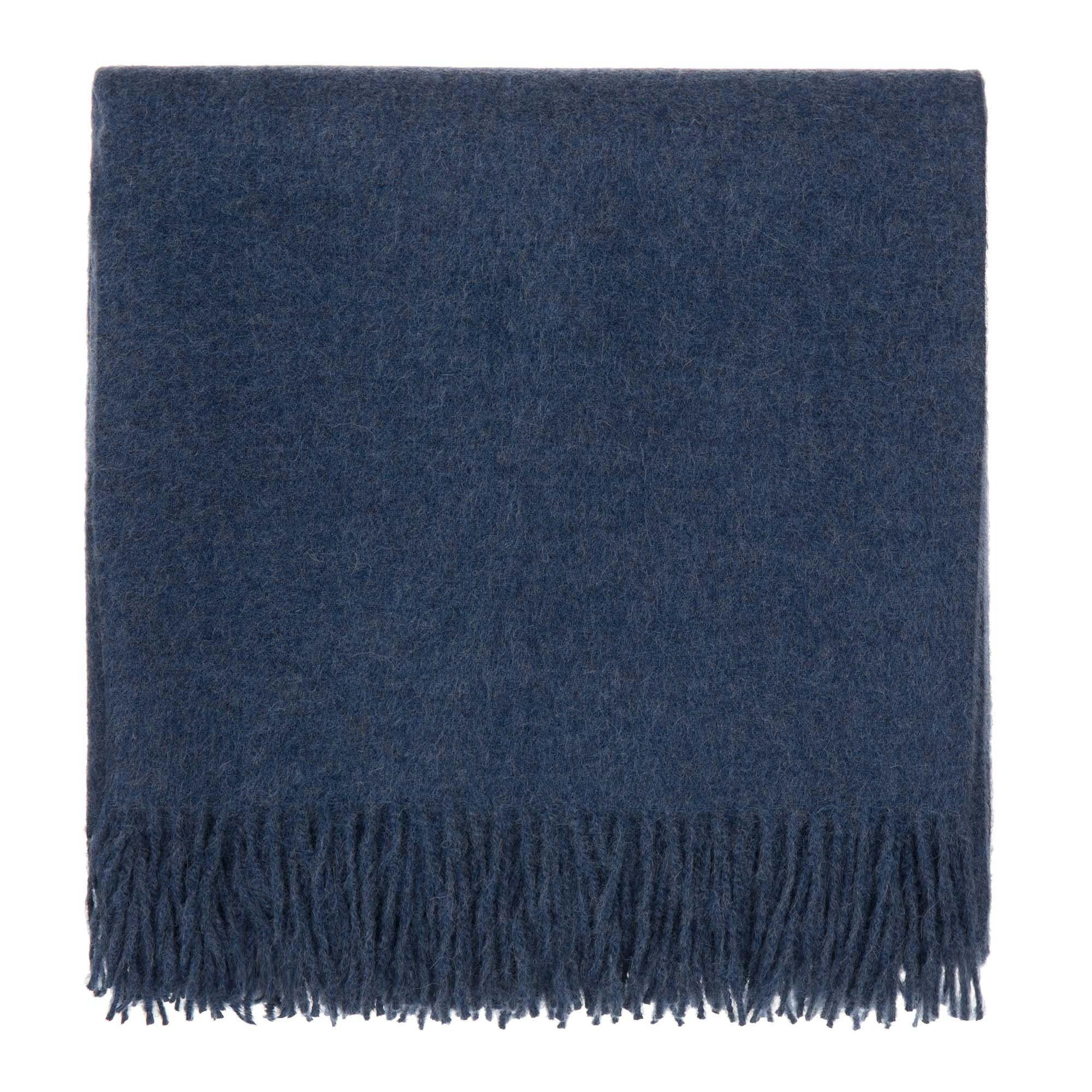 Alpakadecke Arica Jeansblau 130x185 Cm Alpaka Decke Urbanara