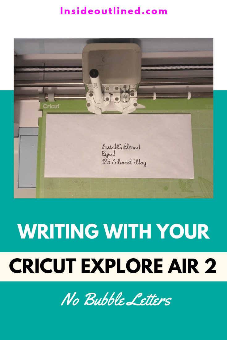 Writing With Your Cricut Explore Air 2 - No Bubble Letters - #cricutexploreair2projects