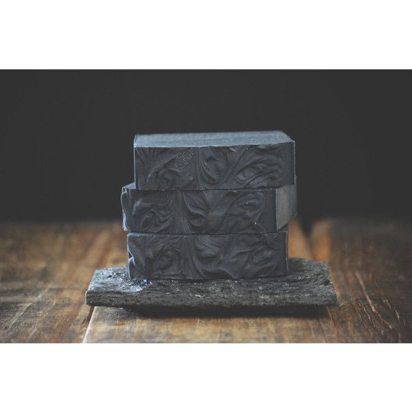 Eucalyptus Lavender Activated Bamboo Charcoal Soap Natural Bar, Cold... (€6,90) ❤ liked on Polyvore featuring beauty products, bath & body products and body cleansers