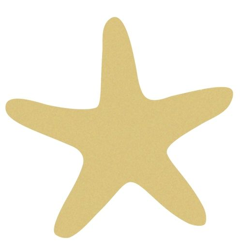Star Fish Unfinished Cutout, Wooden Shape, Paintable Wooden MDF DIY ...