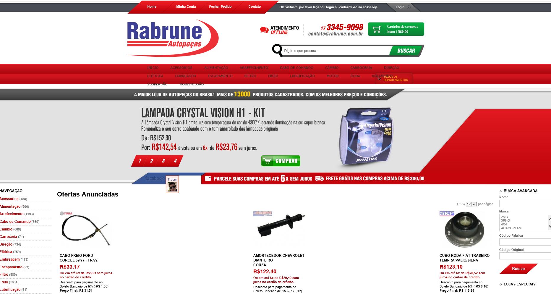 Case E Commerce Go Rabrune Autopecas E Commerce
