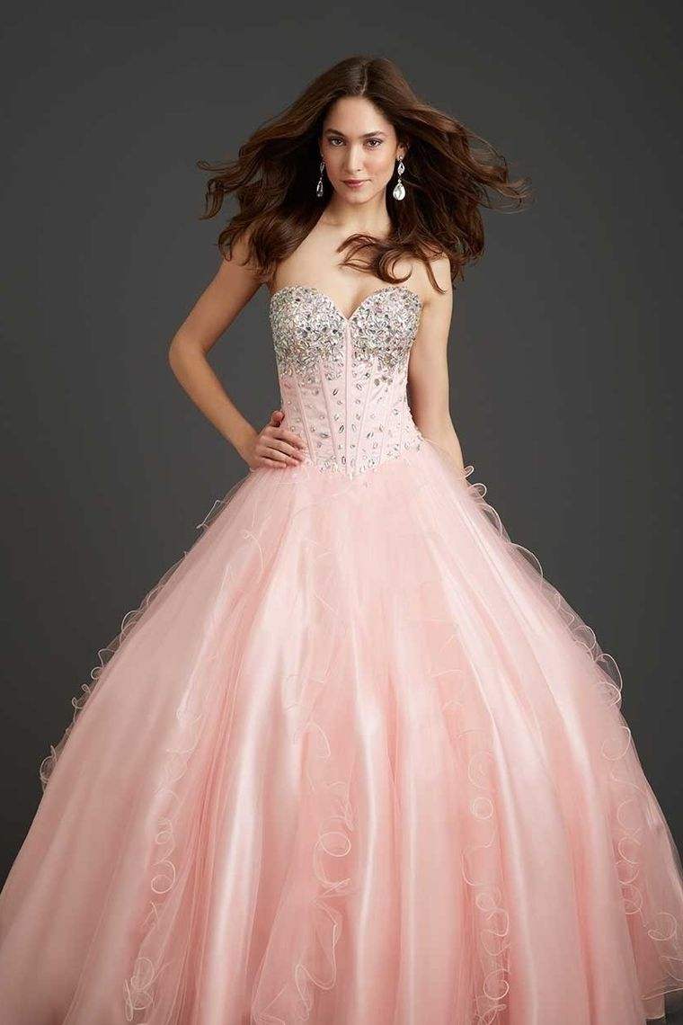 2014 Quinceanera Dresses New A Line Sweetheart Floor Length Organza ...
