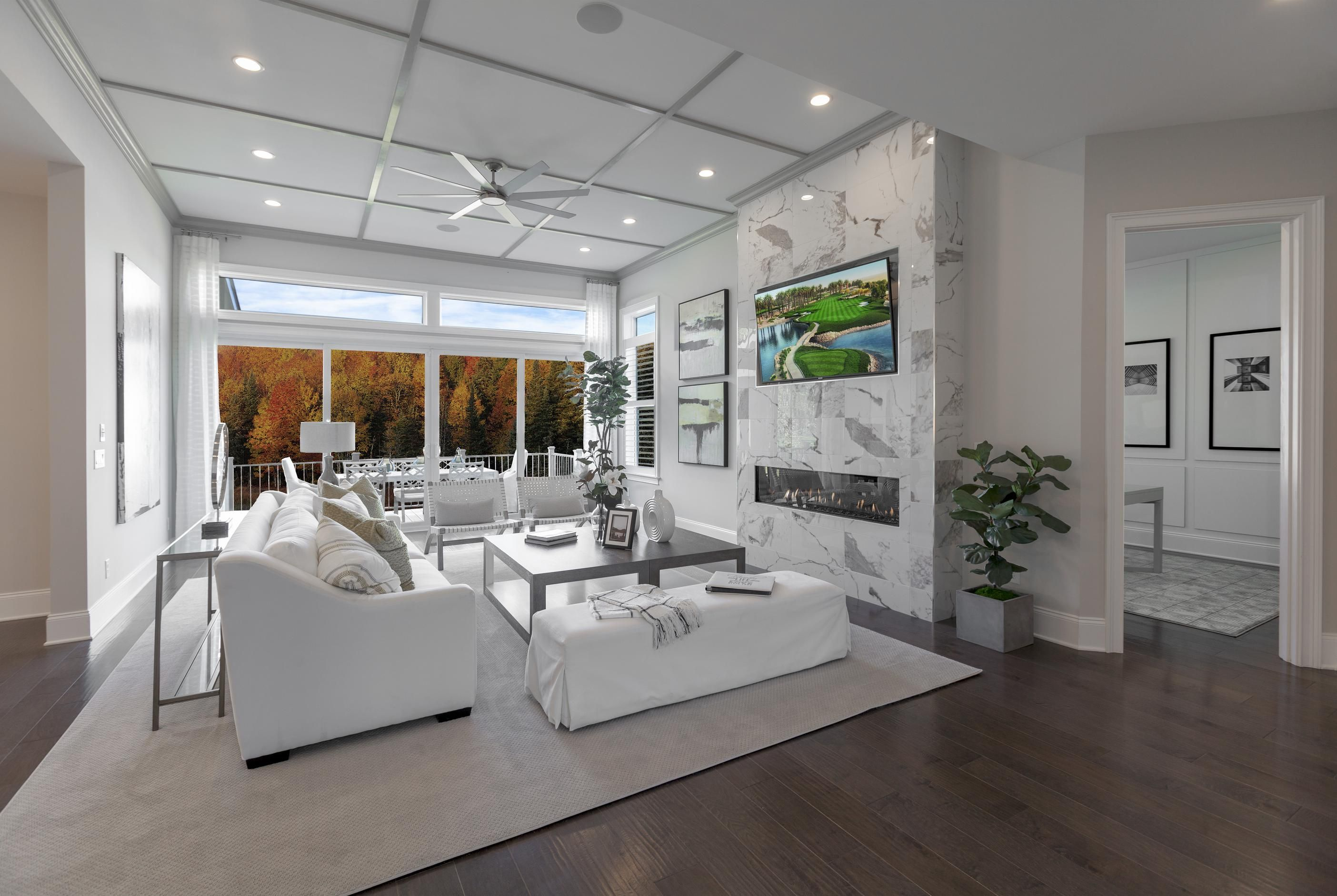 The Elegance Of This Living Room Stems From Its Intricate Use Of Accent Walls Ceilings And Soothing Colors Pictured Above In 2020 Luxury Homes Home Dream Spaces #soothing #colours #for #living #room