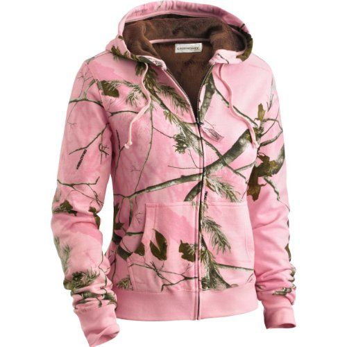 Legendary Whitetails Womens Hideaway Hoodie RT/Pink Medium | Pink ...