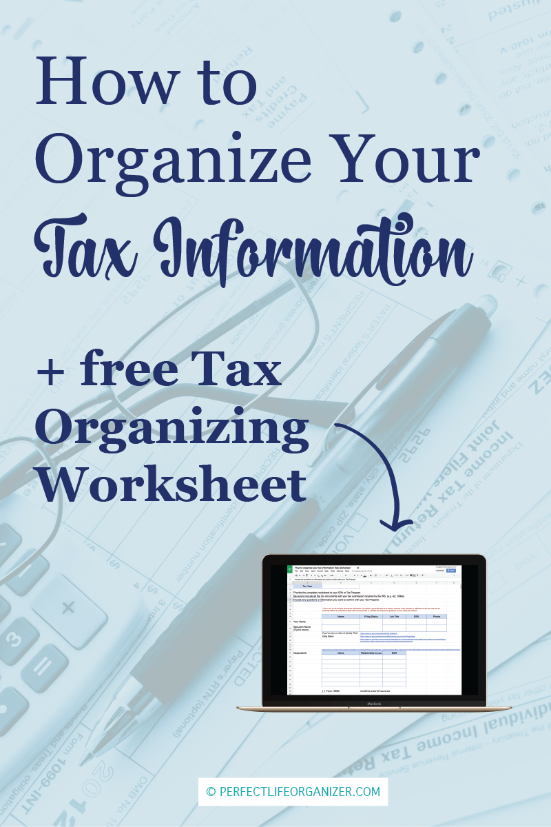 Its tax season how to organize your income tax information free its tax season how to organize your income tax information free tax organizing worksheet whether you are a diyer tax preparer or you hire a t ibookread ePUb